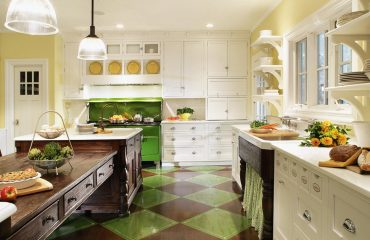 Yellow and Green Country Kitchen