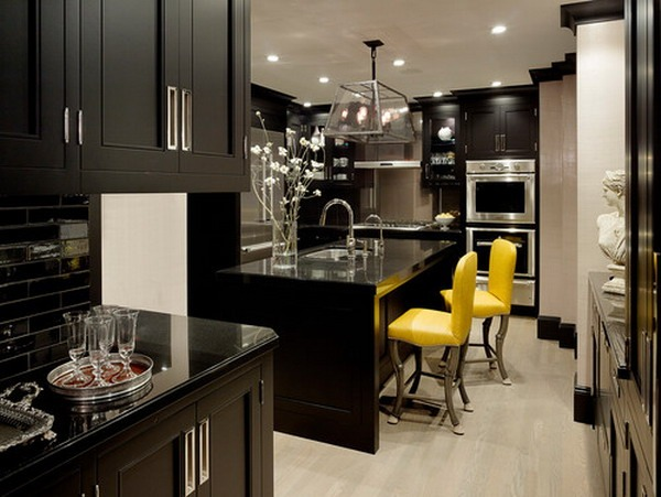 Dark Wood and Stainless Steel Kitchens