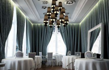 Elegant Upscale Dining Restaurant Interiors