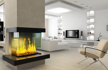 Glass Feature Fireplace
