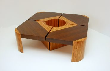 Modern Two-Tone Wooden Coffee Table
