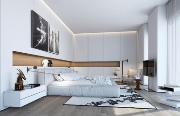 Modern White Boutique Hotel Room