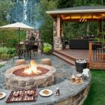 Natural Stone Braai Area with Firepit