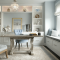 Pale Pastel Home Office