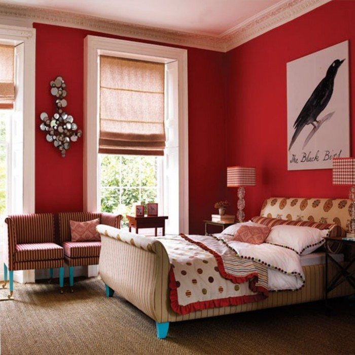 Warm Colours in the Bedroom