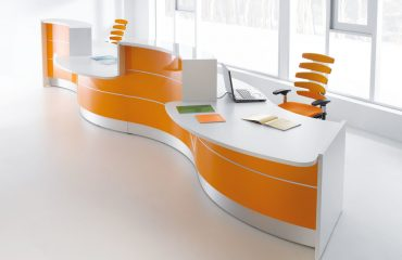 Wavy Modern Reception Desk